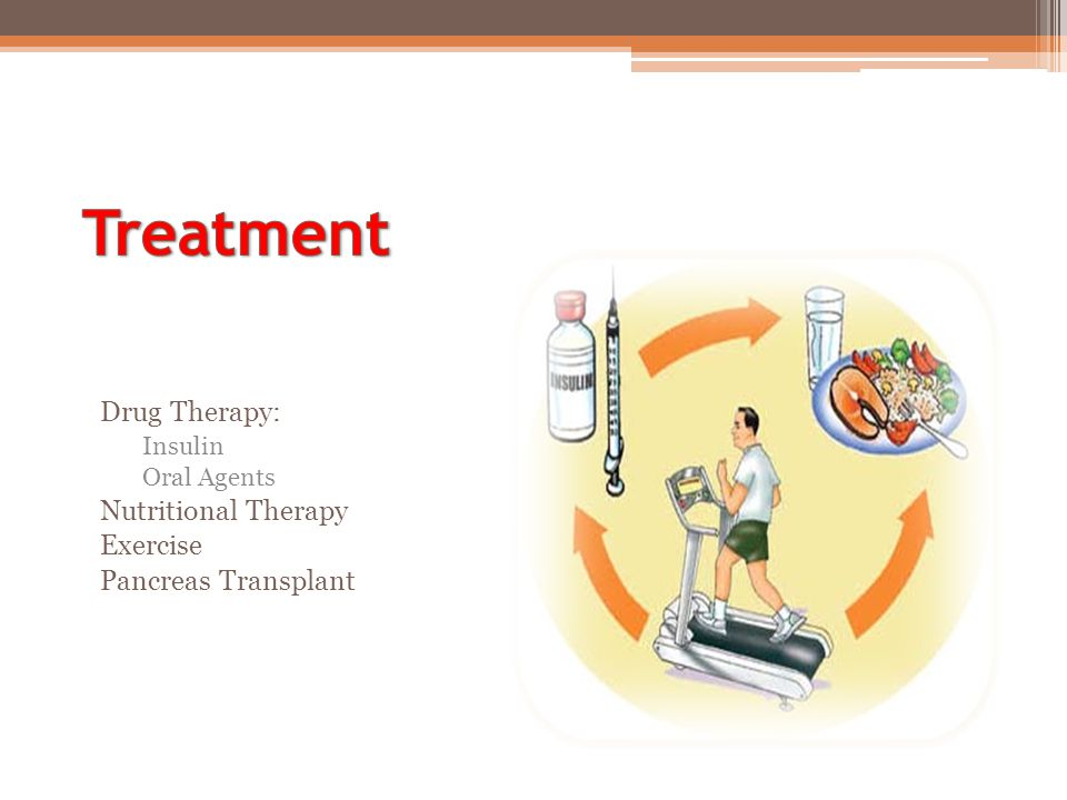 Treatment Drug Therapy: Nutritional Therapy Exercise