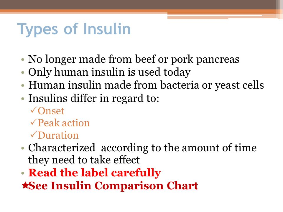 Types Of Insulin No Longer Made From Beef Or Pork Pancreas