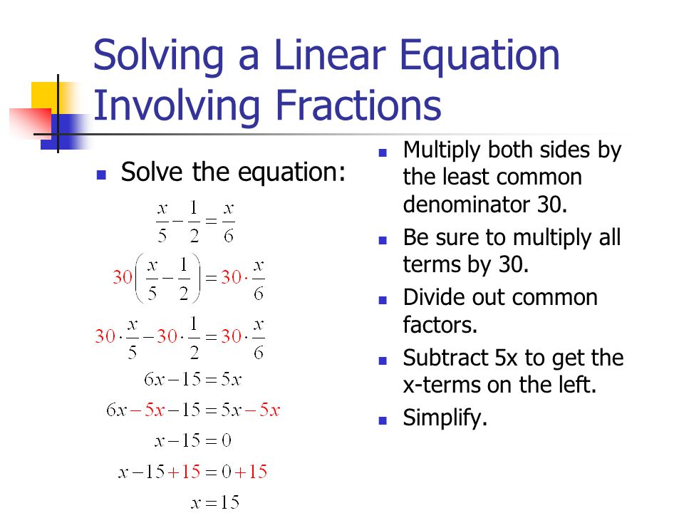 By Drawing The Line Y Solve The Equations : Linear equations a equation in one variable is