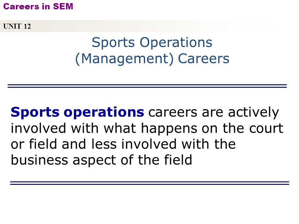 sport operations management Sport facility operations management has 4 ratings and 0 reviews this is the first book to take a truly global look at facilities operations management.