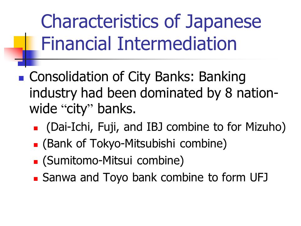 banks and financial intermediation Financial intermediation chapter 5 bank credit 52 banks as financial intermediaries collect deposits from savers and on-lend these to investors and others.