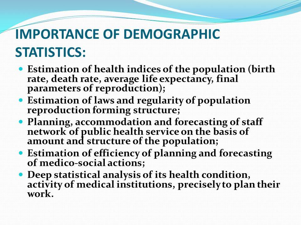 importance of demography How your business benefits from demographic market segmentation published on may 30,  demographic, psychographic and behavioral  in a previous post we discussed the importance of .