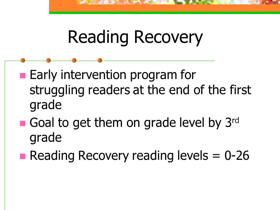 intervention for struggling readers That the individualized needs of struggling readers  reading intervention  models: challenges of classroom support and separated.