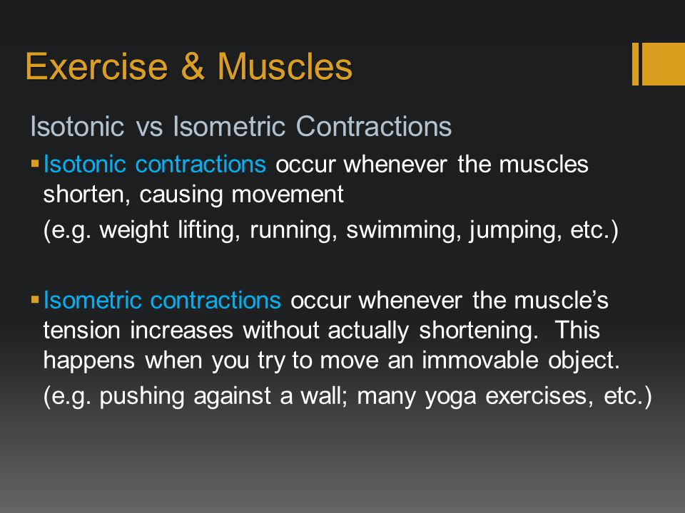 how to remember isotonic and isometric