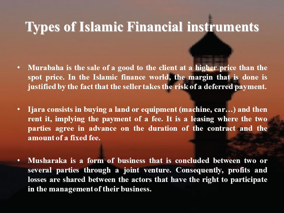 Shariah compliant risk management ppt video online download for What type of loan to buy land