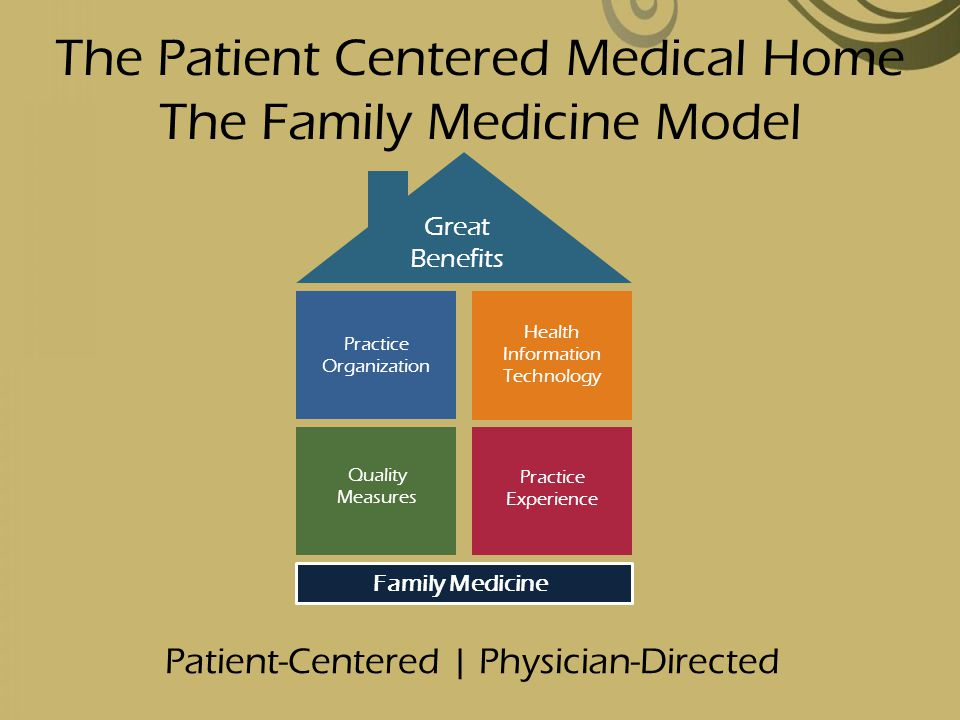 The Patient Centered Medical Home The Family Medicine Model