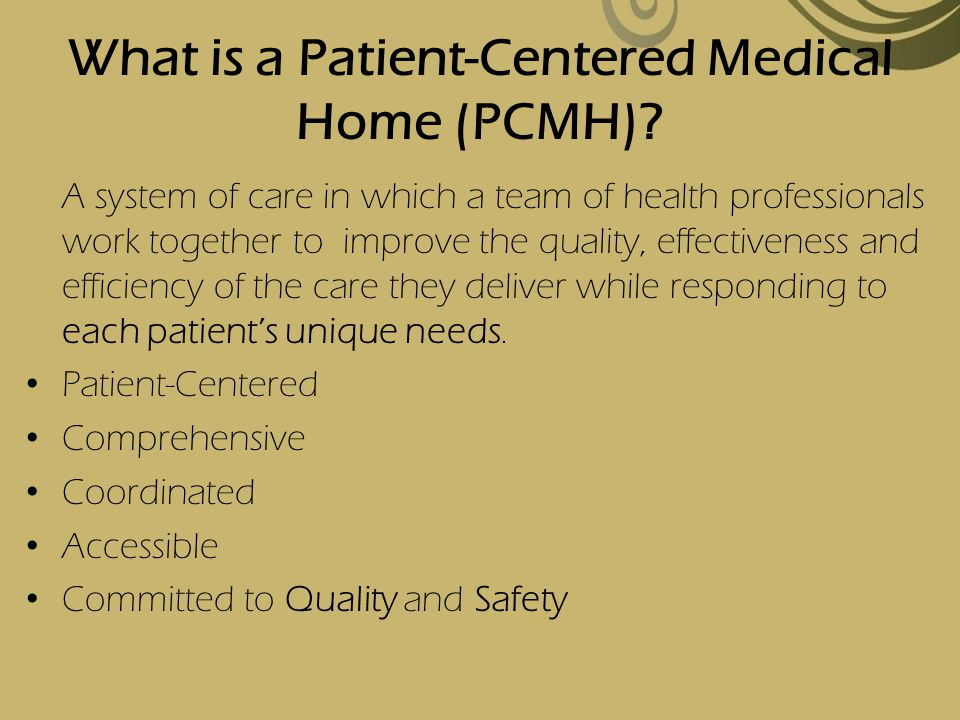 6 guiding principles of patient centered medical home