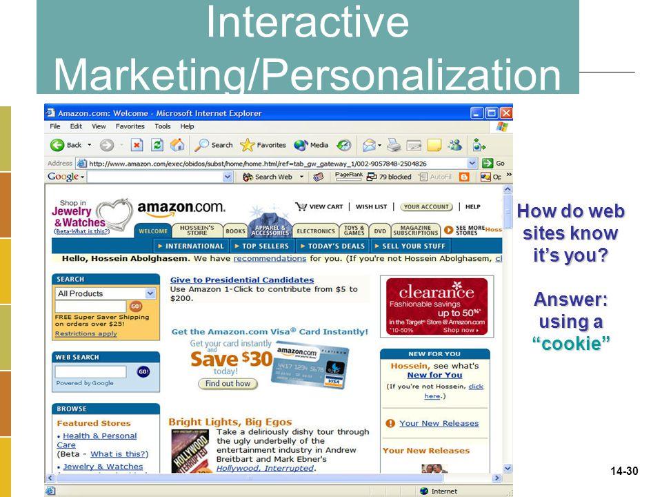 Interactive Marketing/Personalization