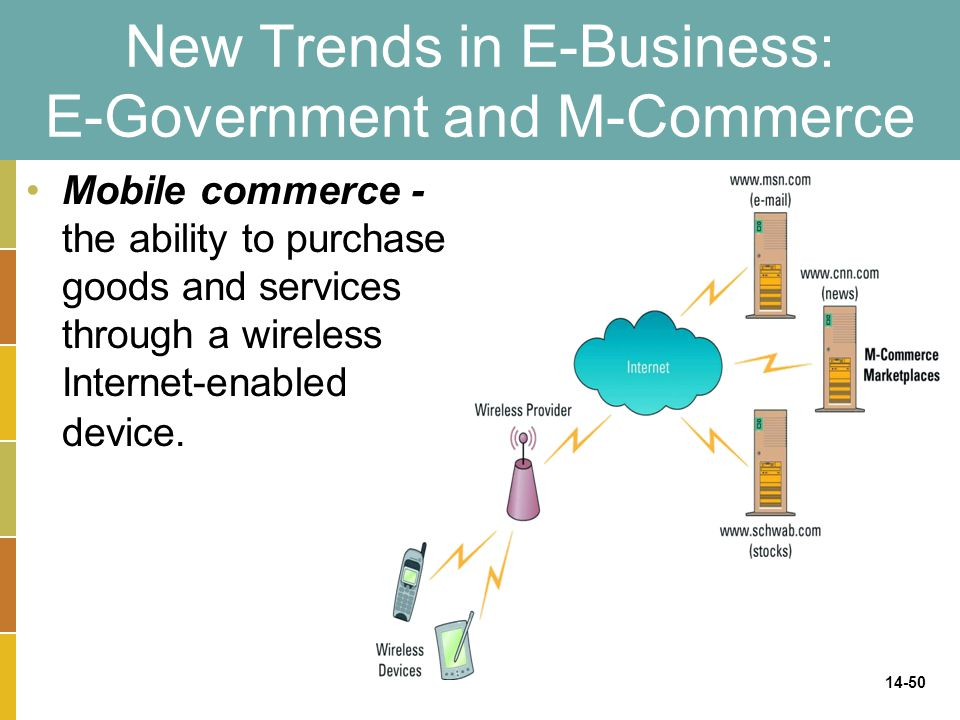 New Trends in E-Business: E-Government and M-Commerce