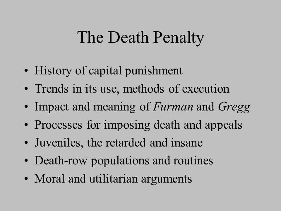 The moral acceptability of the capital punishment