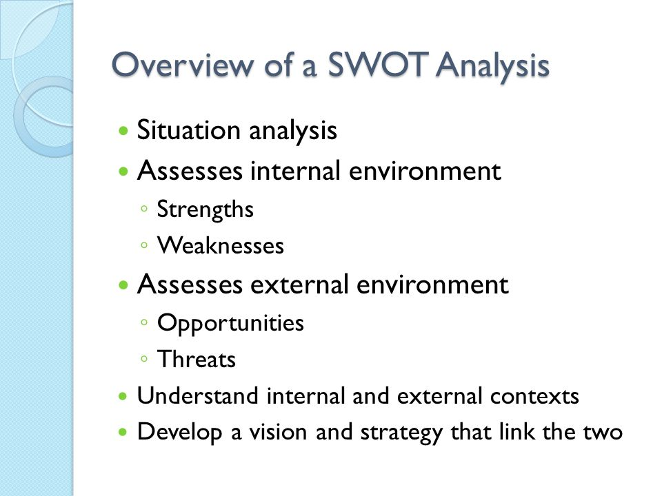 an overview of a swot analysis