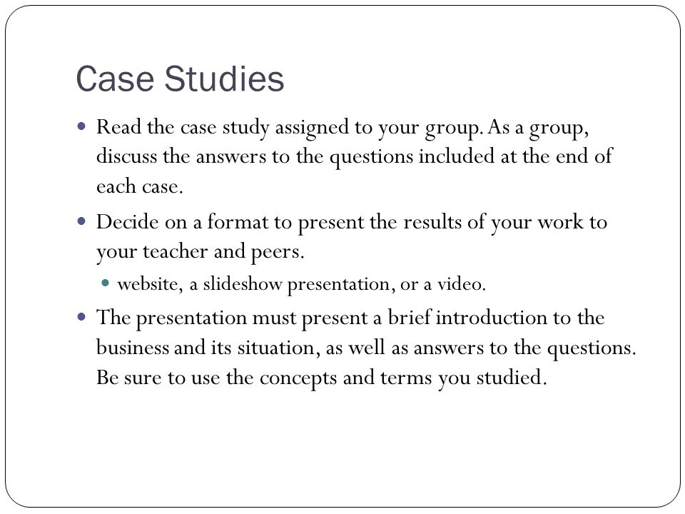 Case Study with answers Ch  Business Environment Case Studies with