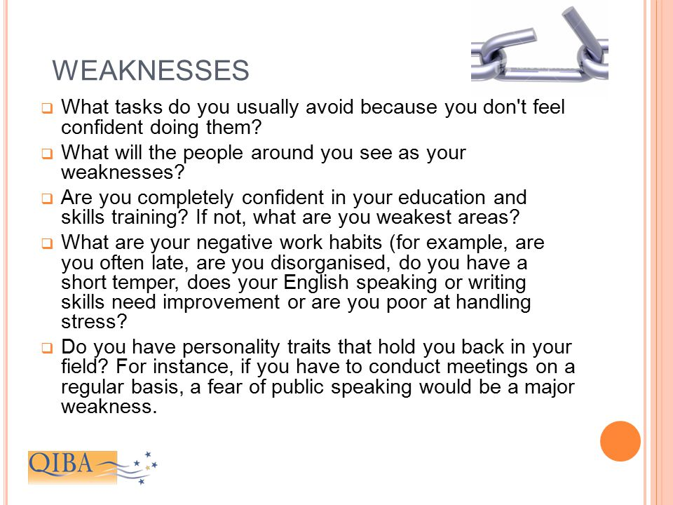 good weaknesses to list in an interview