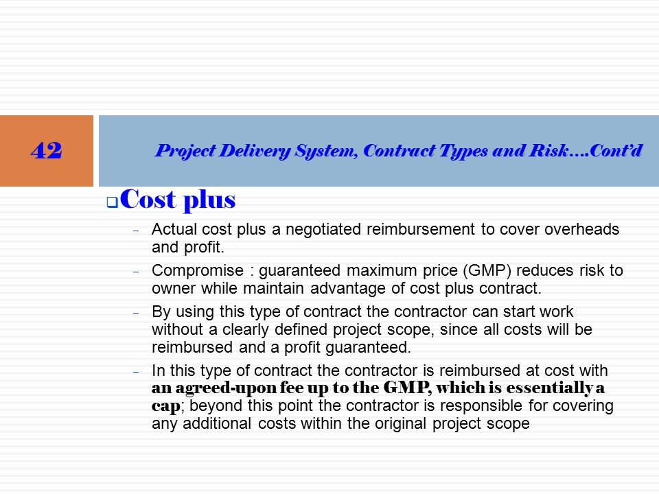 Urrap training of trainers for contractors and for Cost plus contract