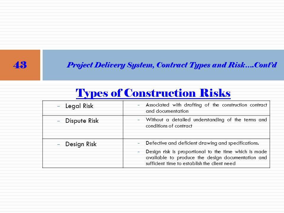 URRAPTraining of Trainers for Contractors and Coordinators ppt – Types of Construction Contract