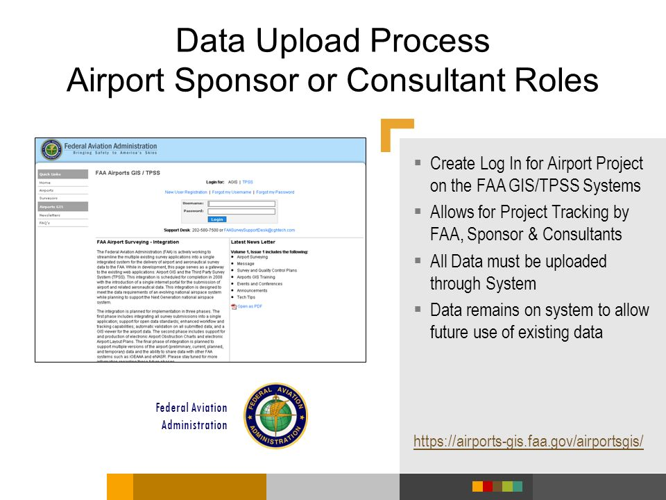 Data Upload Process Airport Sponsor or Consultant Roles
