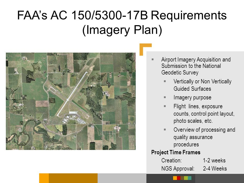 FAA's AC 150/ B Requirements (Imagery Plan)