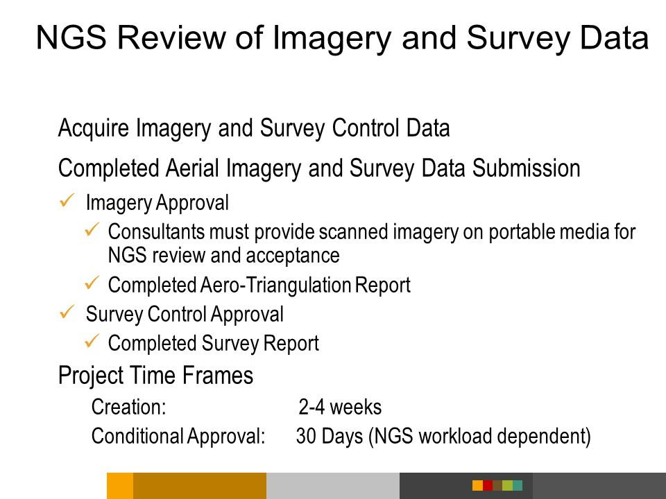 NGS Review of Imagery and Survey Data