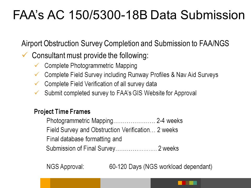 FAA's AC 150/5300-18B Data Submission