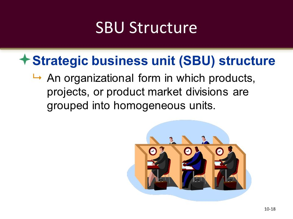 SBU Structure Strategic business unit (SBU) structure