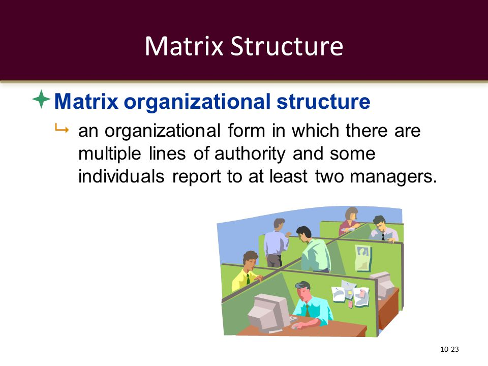 Matrix Structure Matrix organizational structure