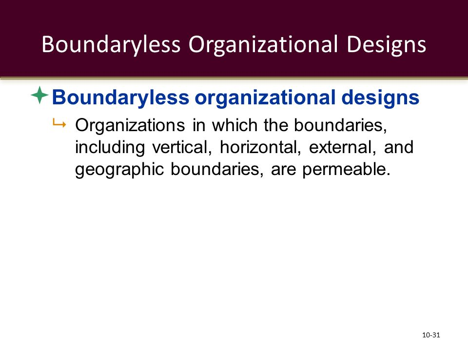 Boundaryless Organizational Designs