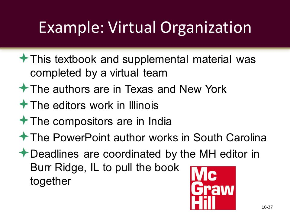 Example: Virtual Organization