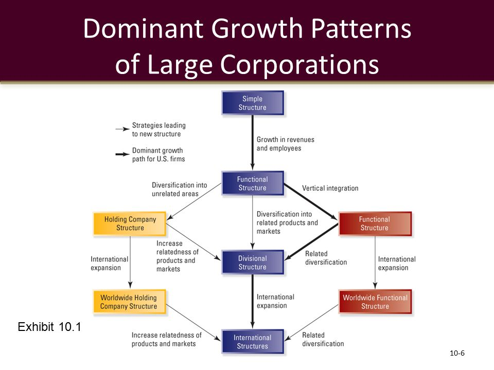 Dominant Growth Patterns of Large Corporations