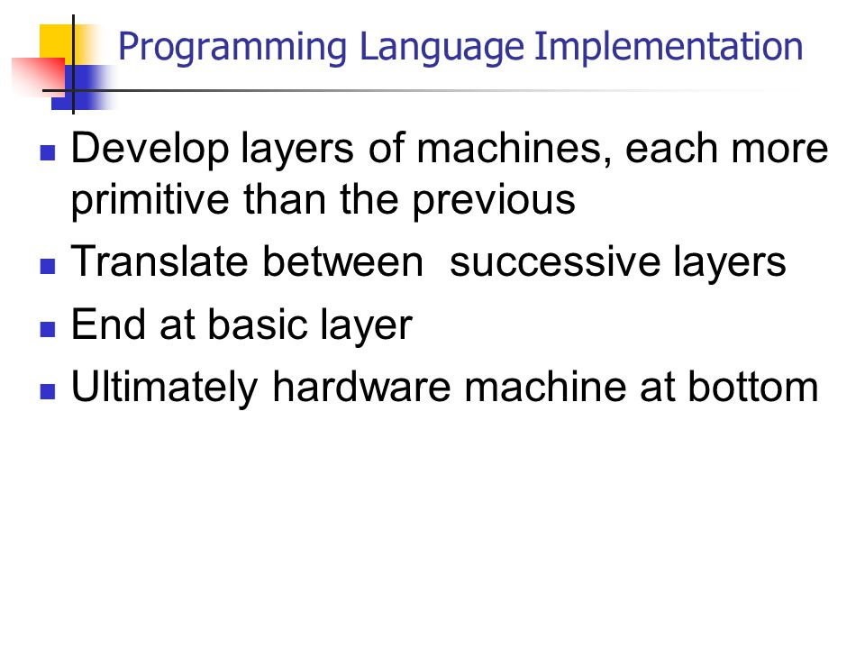 programming language thesis implementation In support of this kind of programming, racket's modular syntax system benefits from several key innovations a particularly illustrative one is the ability to incrementally redefine the meaning of existing language constructs via the module system.