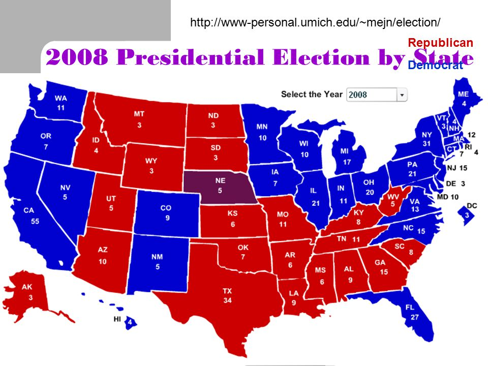 2008 Presidential Election by State