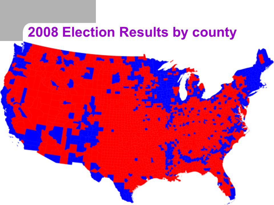 2008 Election Results by county