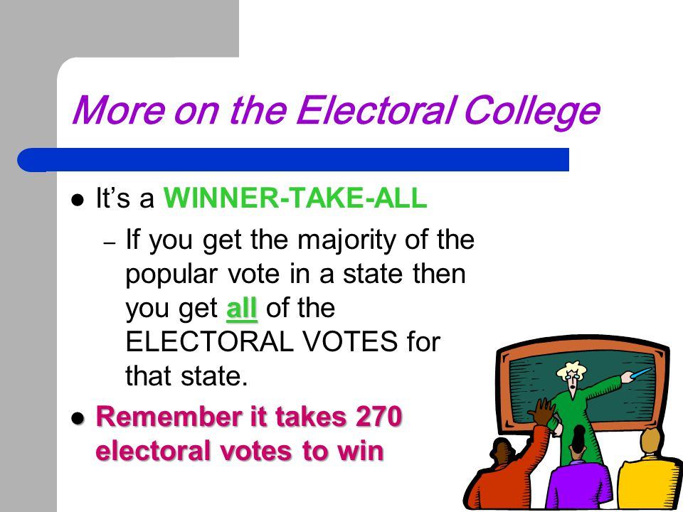 More on the Electoral College