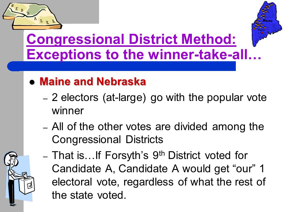 Congressional District Method: Exceptions to the winner-take-all…