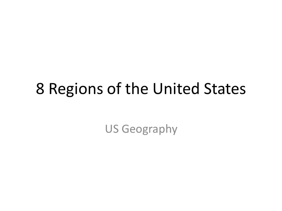 8 Regions of the United States