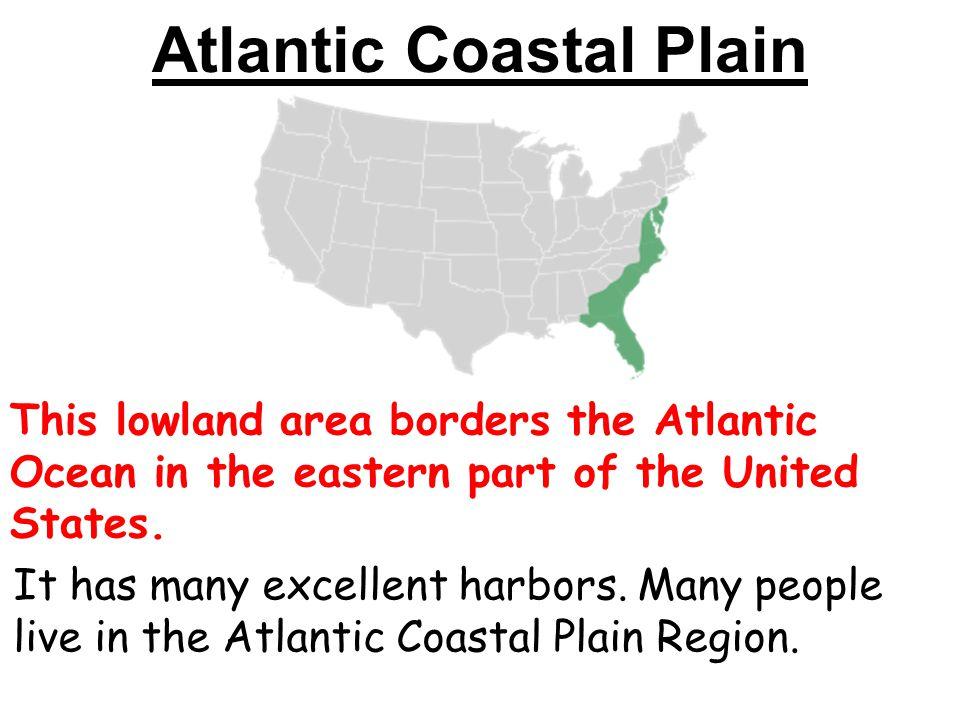 Atlantic coastal plain map