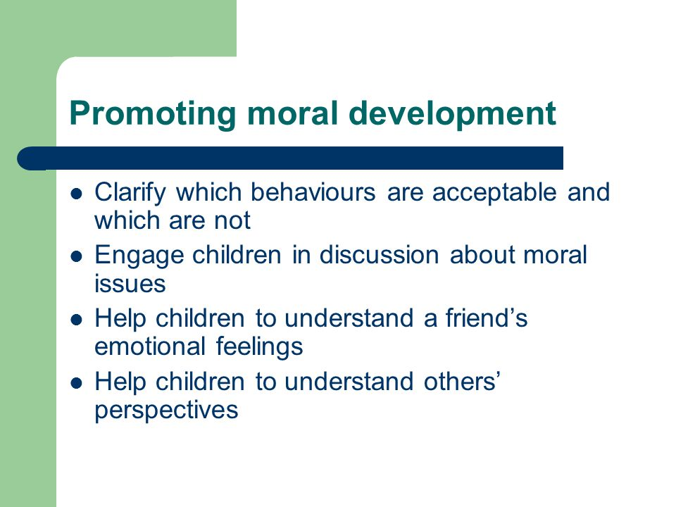 understanding and promoting children s development Healthy social and emotional development in children  promoting children's healthy social and emotional development ways that programs promote  in understanding children's strengths and weaknesses in self-control, initiative, attachment, and behavior in addition, the program.