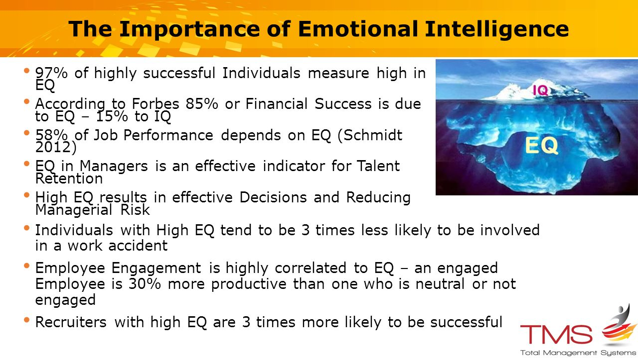 the importance of emotional intelligence in the success of an organization The time of darwin who emphasized on the importance of emotional expression for survival the term  emotional intelligence  was first used by wayne payne in their doctoral thesis,  a study of emotion : developing emotional intelligence ,1985.