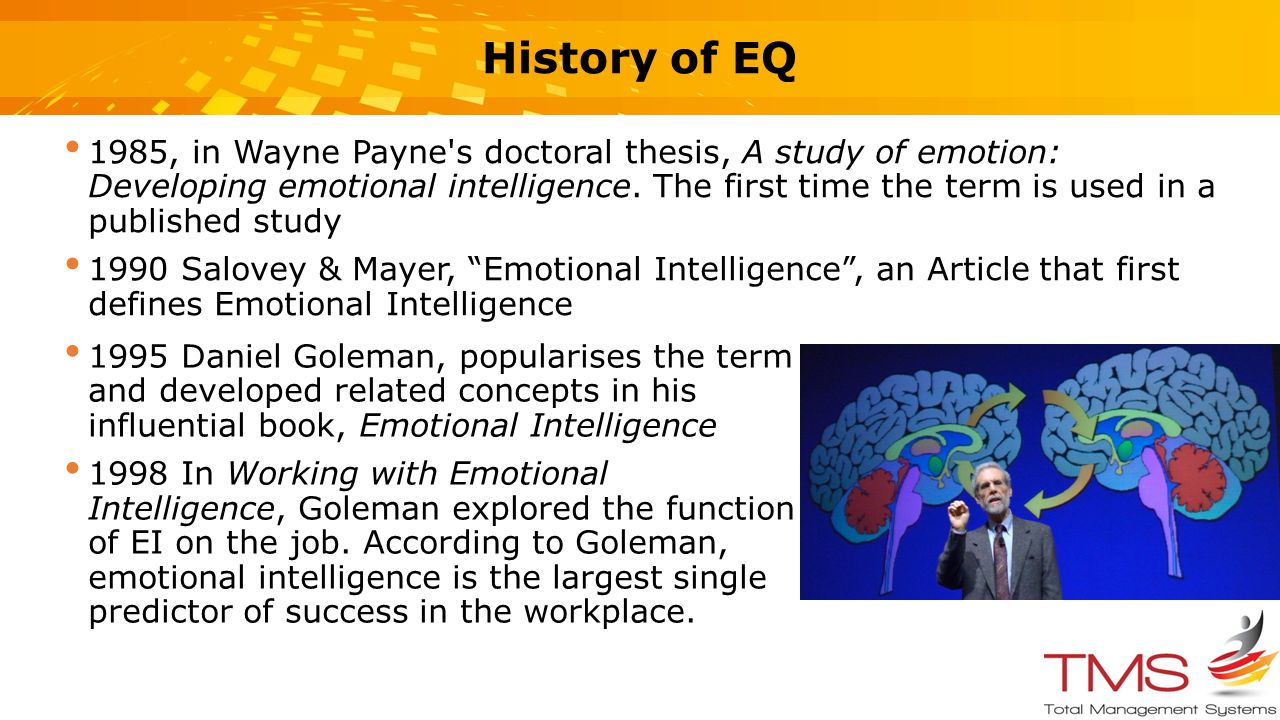 a brief analysis of emotional intelligence and the books about it A brief analysis of 20 years of emotional intelligence: an introduction to assessing emotional intelligence: theory, research, and applications con stough, donald h saklofske, and james da parker twenty years of emotional intelligence interest in emotional intelligence can, in part, be gauged by the amount of.