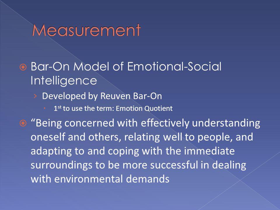 measurement of emotional intelligence pdf