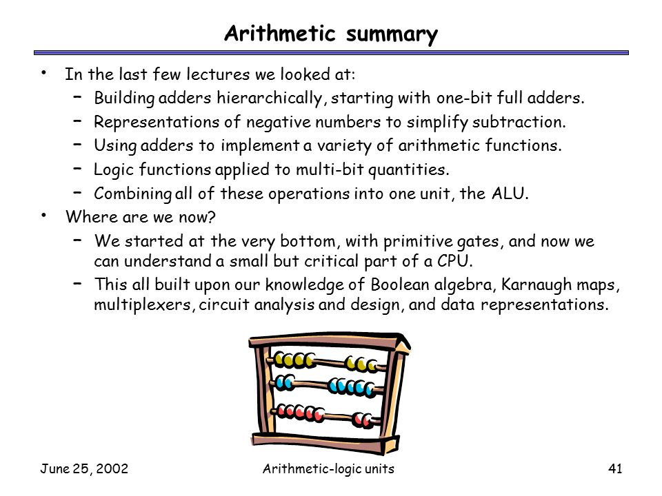 arithmetic logic units Arithmetic logic unit (alu) design using reconfigurable cmos logic chandra  srinivasan louisiana state university and agricultural and mechanical college, .