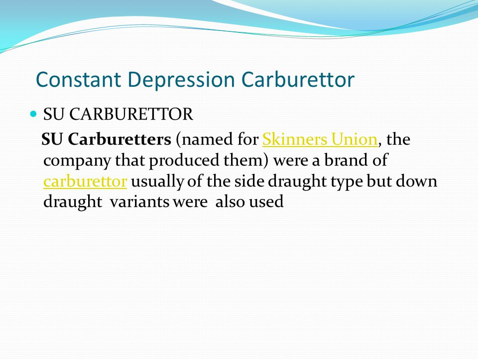 Constant Depression Carburettor