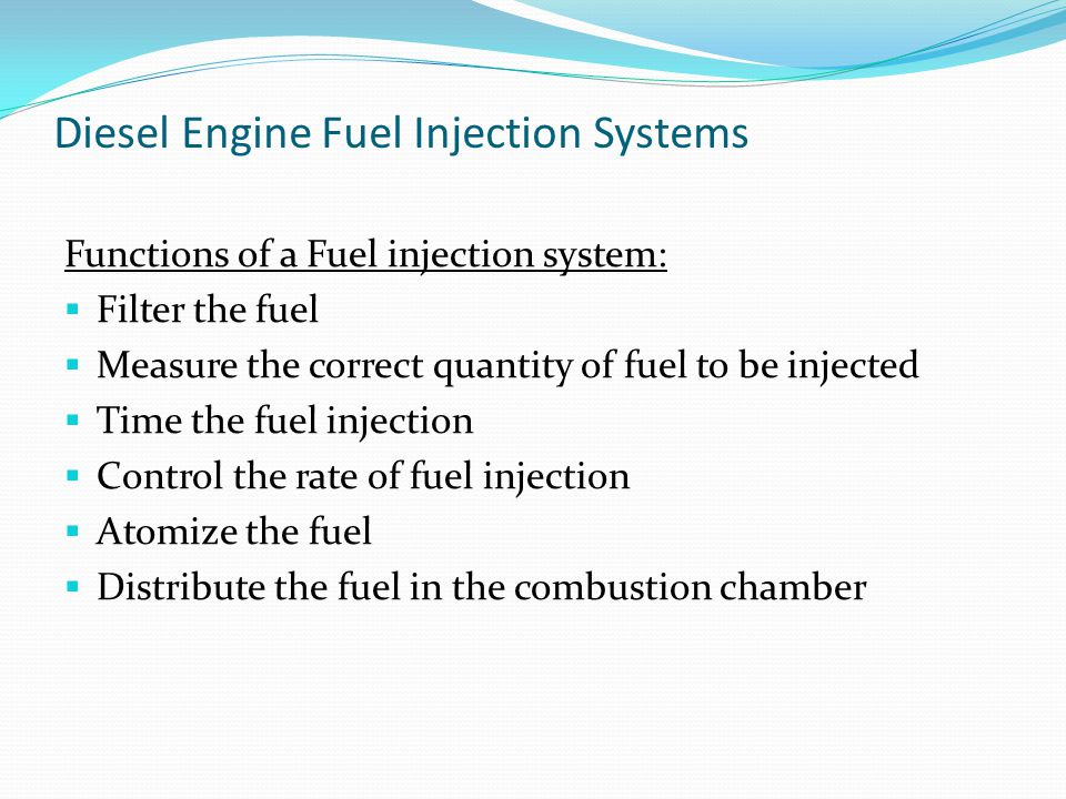 Diesel Engine Fuel Injection Systems