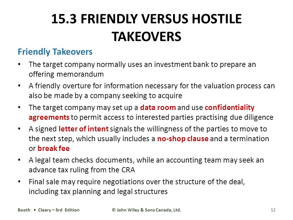 hostile vs friendly takeovers The top 5 hostile takeovers of all time hostile takeovers don't often work, but even so, keen negotiators regularly turn bidding wars into ignominious battles.