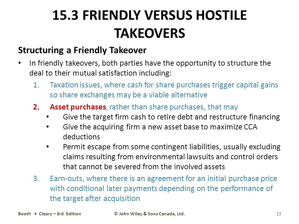 difference between hostile and friendly takeovers The takeover literature usually distinguishes between two broad classes of  takeovers: hostile takeovers and friendly ones  difference emerges between.
