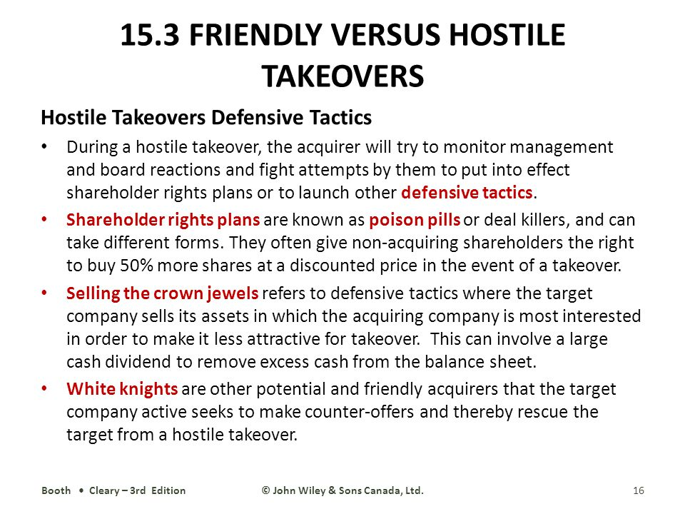 difference between hostile and friendly takeovers What is difference between a merger and takeover  to defend themselves against an unwanted hostile takeovers ,  the difference between a financial and an.
