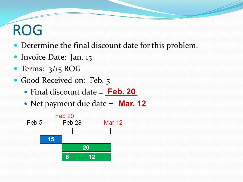 Cash discounts other methods ppt video online download Rogg discount
