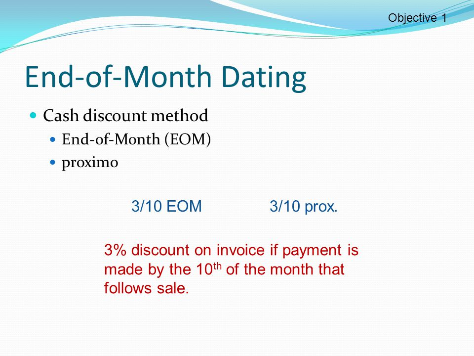 Ordinary dating cash discount