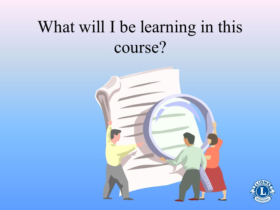 What will I be learning in this course