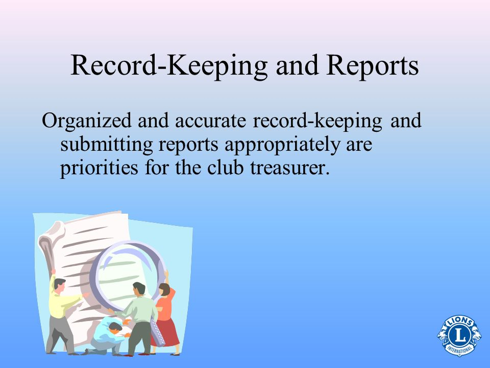 Record-Keeping and Reports