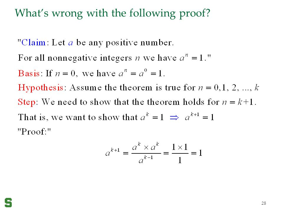 What's wrong with the following proof